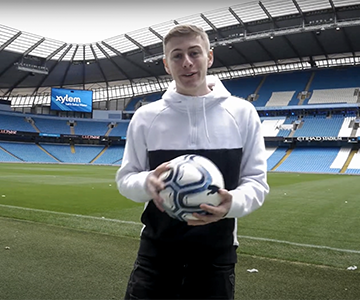 "Exclusive look behind the Xylem & Manchester City ""End of Football"" film"