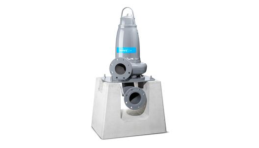 Dry pit pump installation, vertical